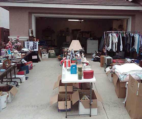 garage sale tables